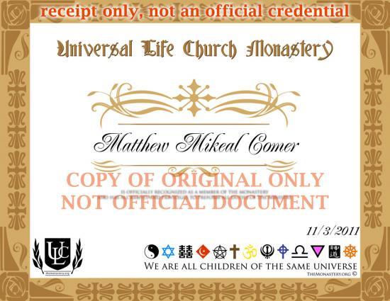 Universal Life Church Monastery